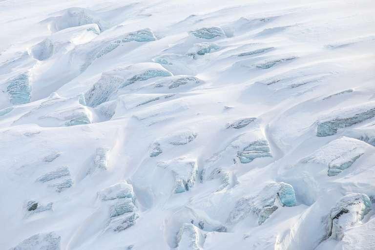 Detail Gletscher im Wallis