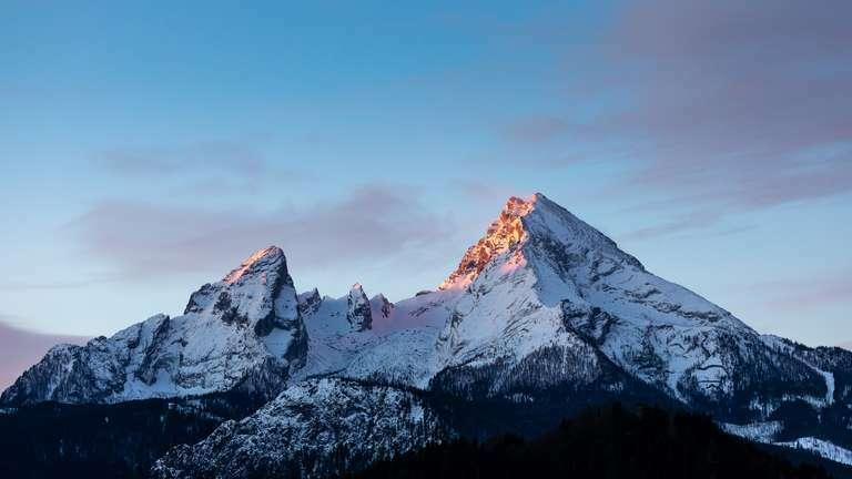 Watzmann im Morgenlicht 1