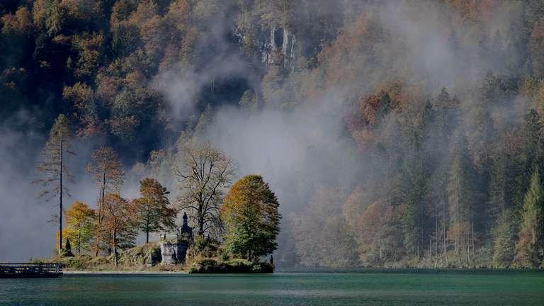 Insel im Herbstlaub