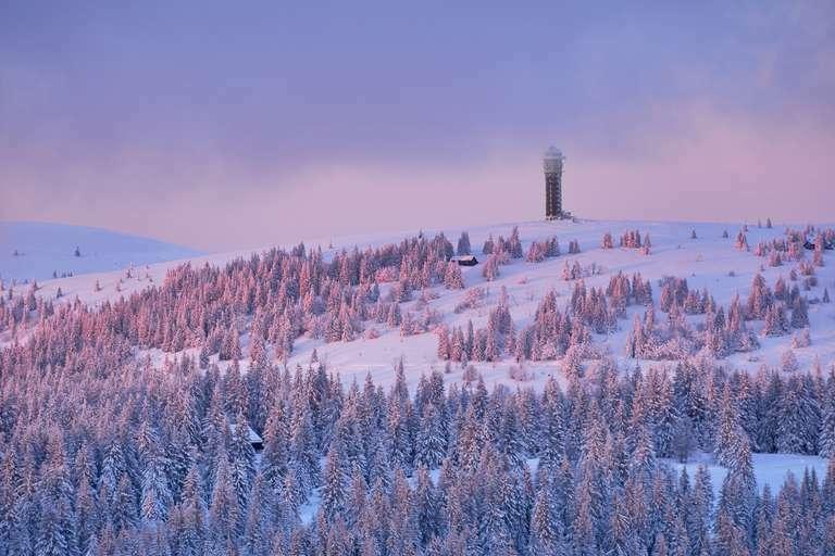 Seebuck mit Turm im Winter 3:2