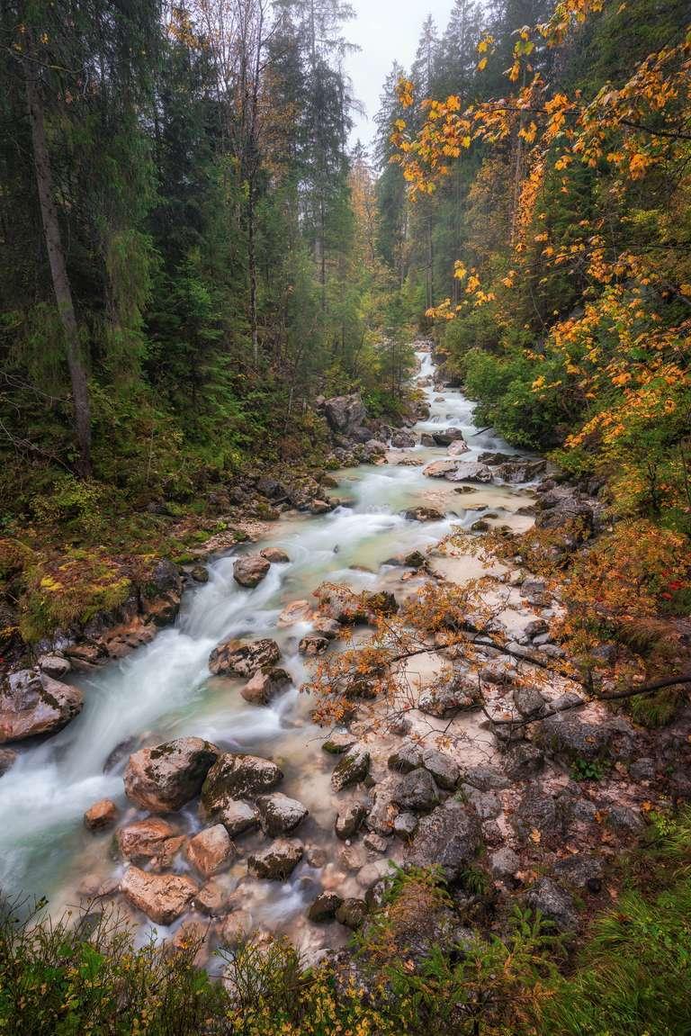 Herbstliche Flusslandschaft