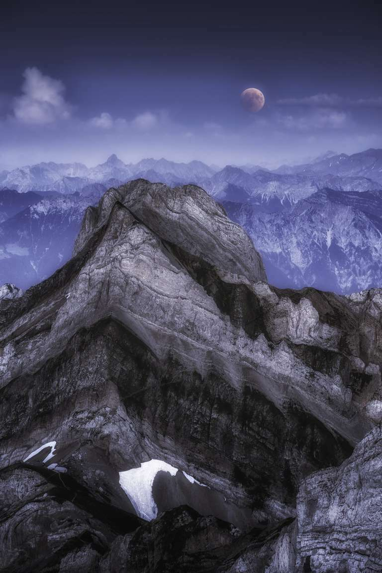 Mondfinsternis auf dem Säntis