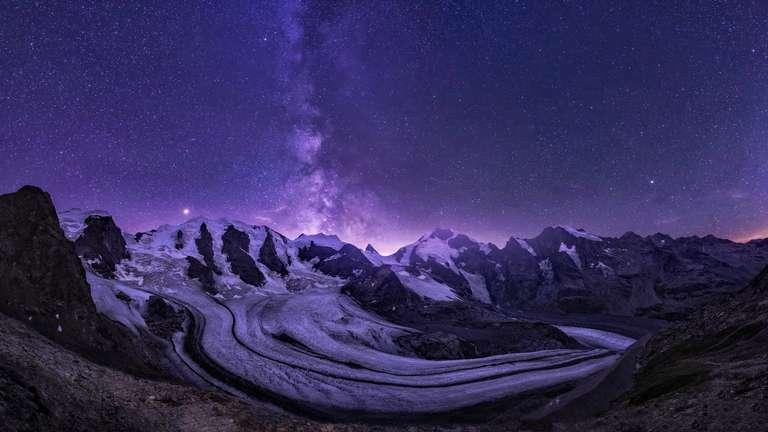 Sternenregen über dem Gletscher