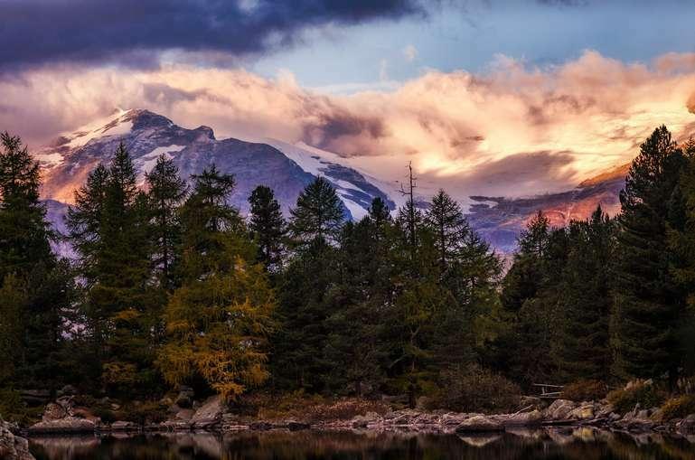 Glühende Berge