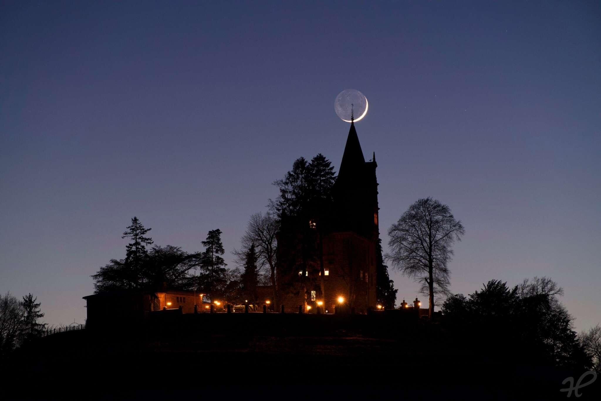 Rodeck Monduntergang am Faschingssamstag