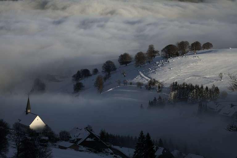Hofsgrund im Nebel