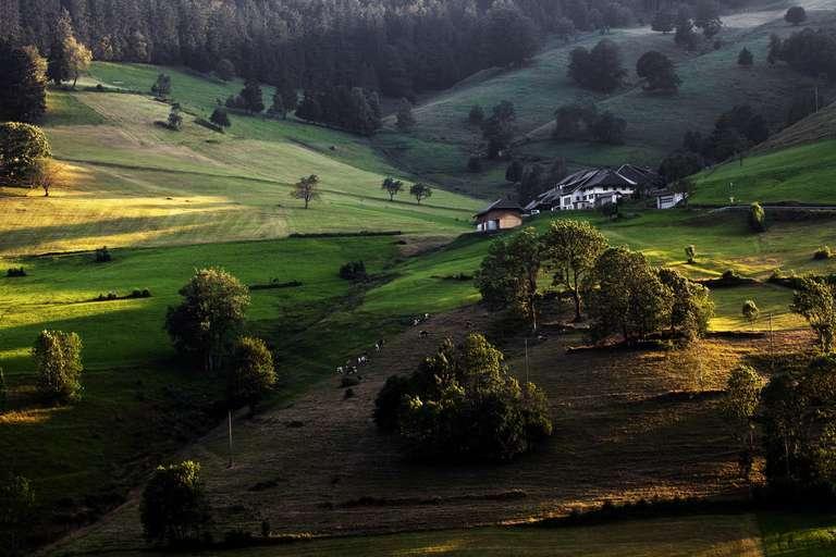 Bauernhof im Abendlicht