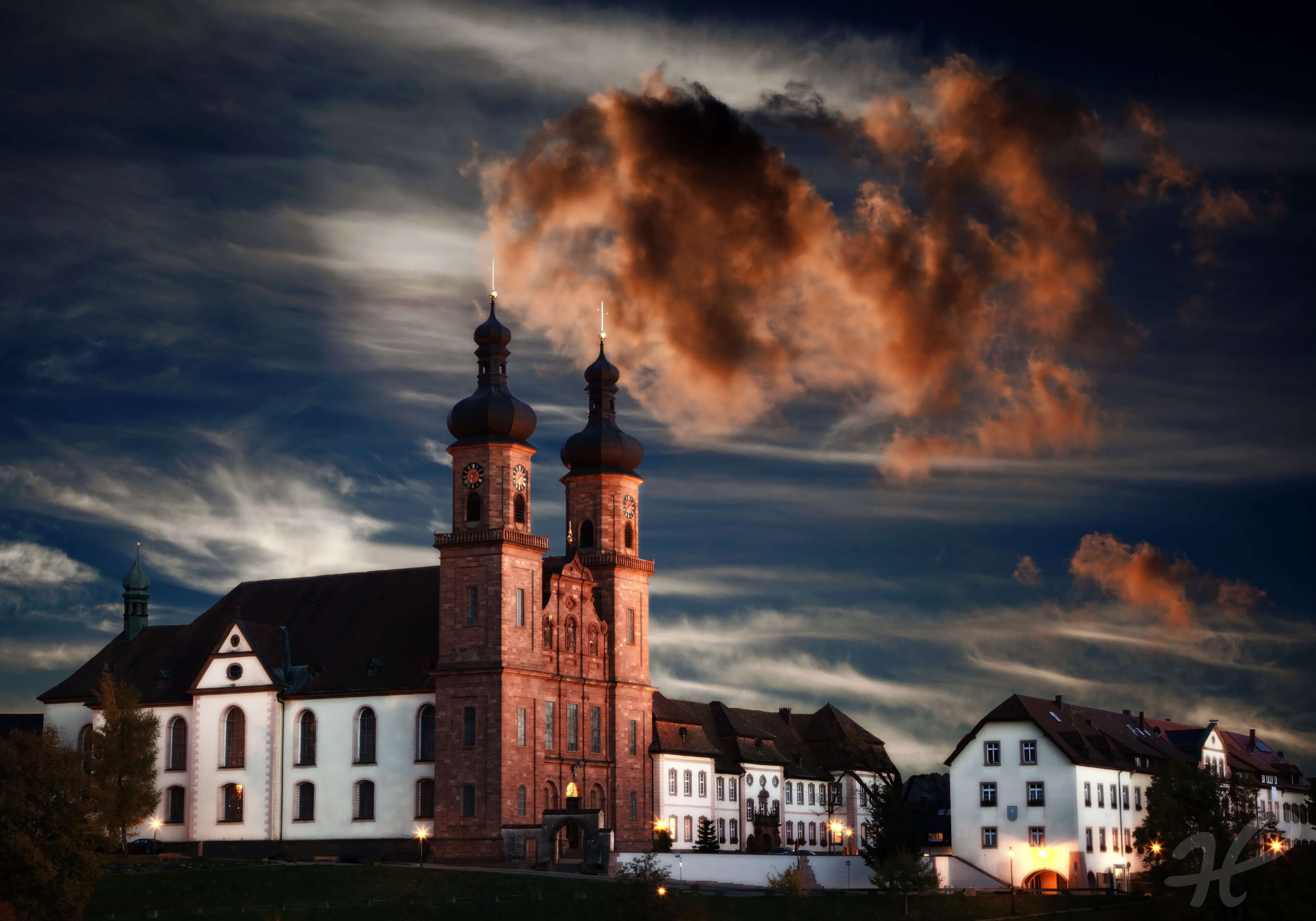 Klosterkirche von St.Peter im Abendlicht