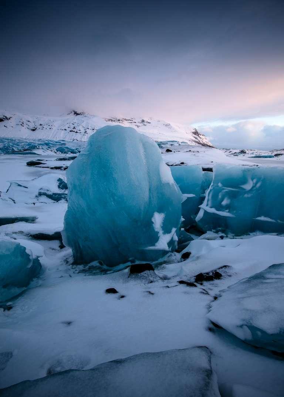 Eis im Gletscher - Island