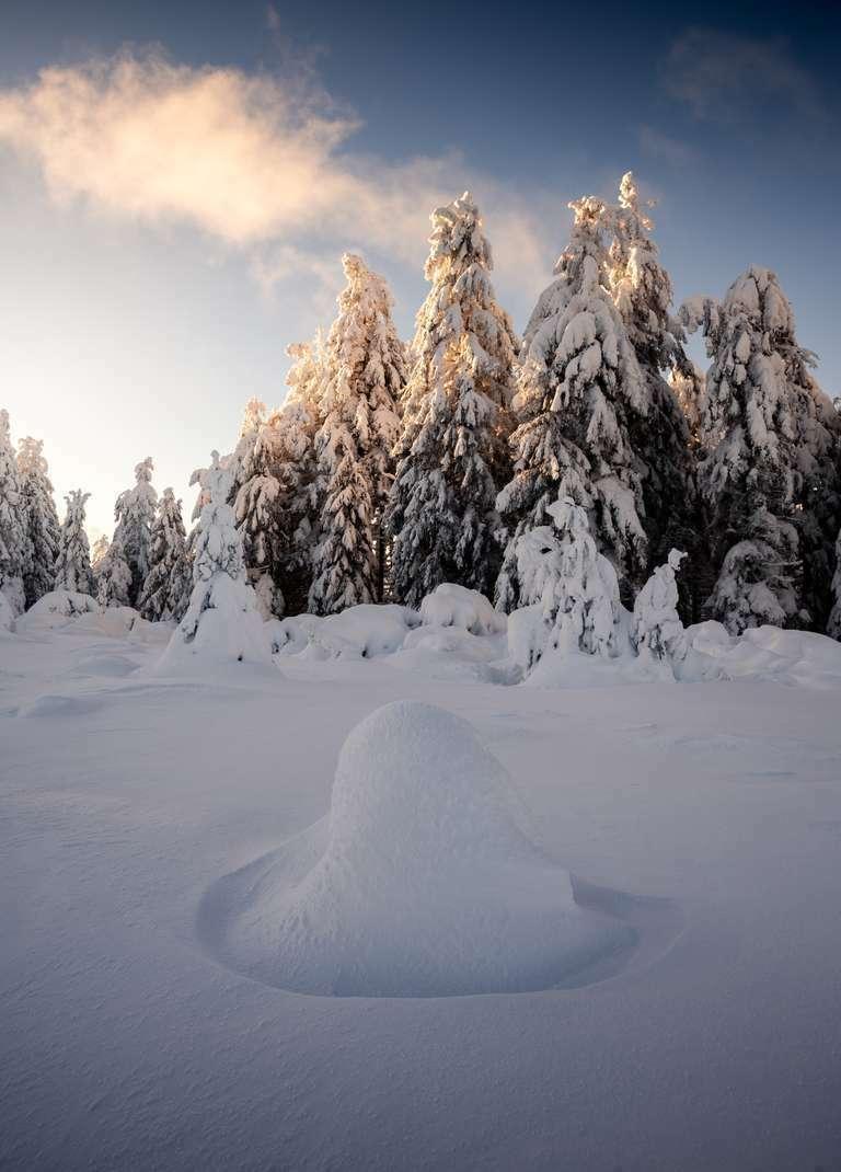 Schneehügel am Schliffkopf