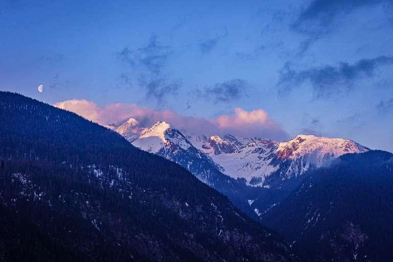 Mountains & Moon