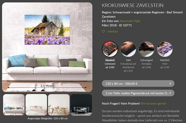 Heimatfotos Shop - Krokuswiese Nordschwarzwald kaufen