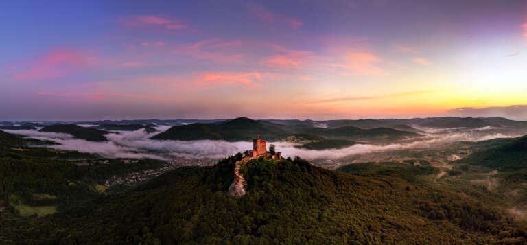 Die Pfalz von oben - Burg Trifels