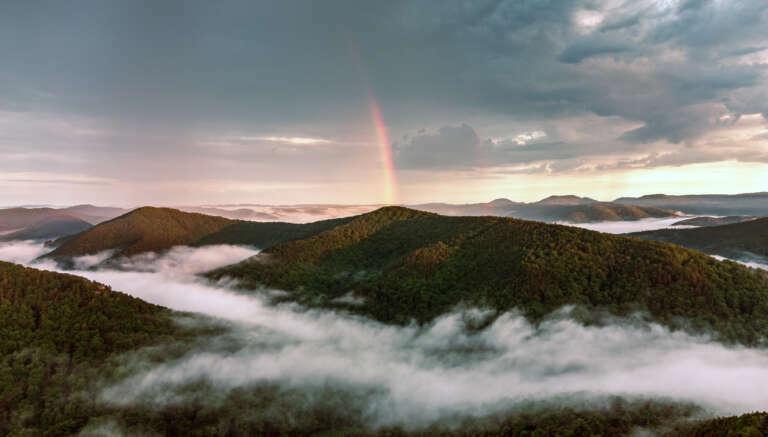 Die Pfalz von oben - Regenbogen