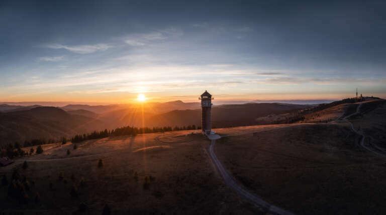 Feldbergturm Sonnenuntergang