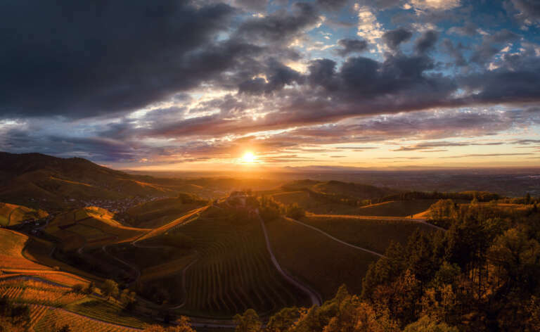 Sonnenuntergang am Durbacher Schloss