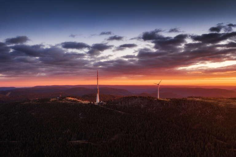 Schwarzwald Hornisgrinde Sonnenaufgang Drohne