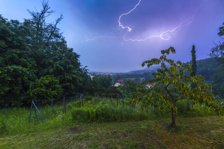 Blitz über Lauchringen