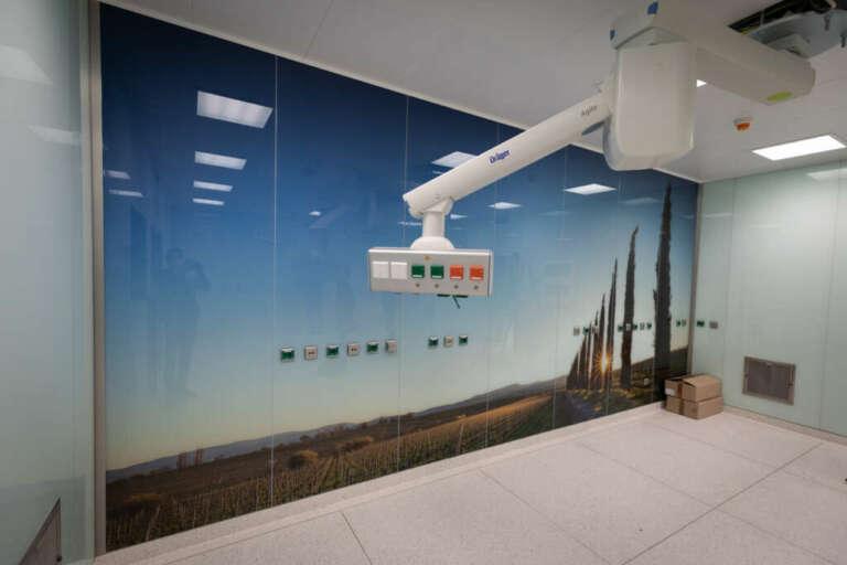 Ein Heimatfoto im neugestalteten OP der BG Klinik Ludwigshafen
