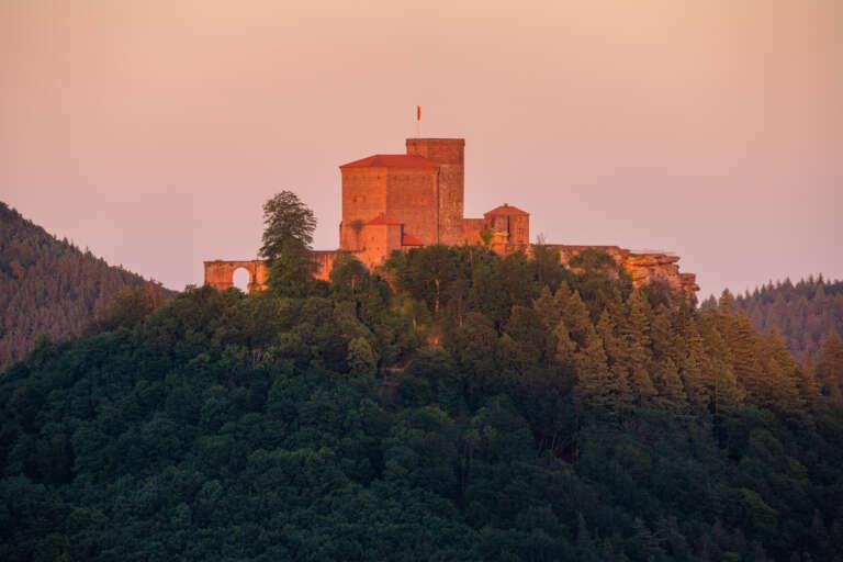 Burg Trifels im Abendlicht