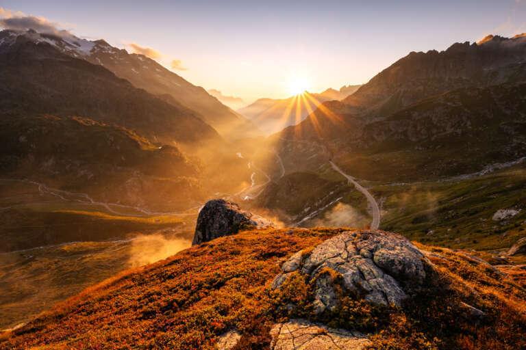 Sonnenuntergang am Sustenpass